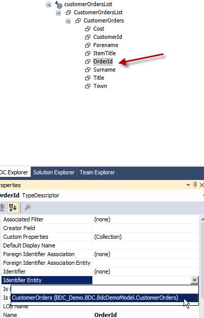 Set OrderId Identifier Entity