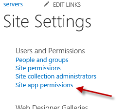 site app permissions workflow missing