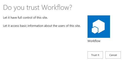 Trust Workflow